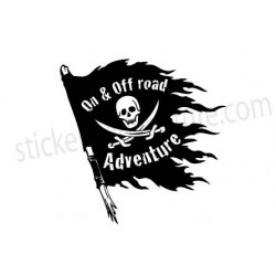 Drapeau pirate on & off road