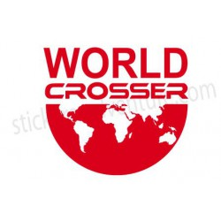 Sticker Worldcrosser Map