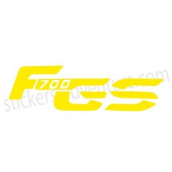 Sticker F700 GS bagagerie