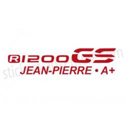 R1200GS LC Nom et Groupe Sanguin